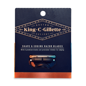 King C. Gillette Shave and Edging Razor Blades (3 Pack)
