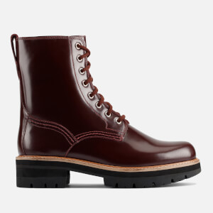 Clarks Women's Orianna Hi Leather Lace Up Boots - Merlot