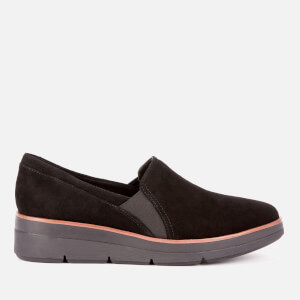 Clarks Women's Shaylin Ave Suede Flats - Black