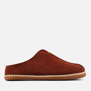 Clarks Men's Home Style Suede Mule Slippers - Dark Tan