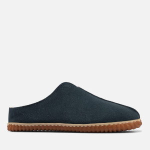 Clarks Men's Home Style Suede Mule Slippers - Dark Teal