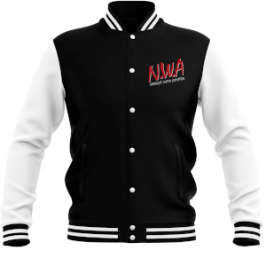 NWA Straight Outta Compton Women's Varsity Jacket - Black/White