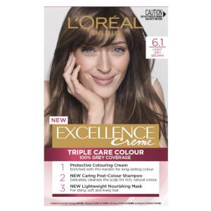 L'Oréal Paris Excellence Creme Permanent Hair Colour - Light Ash Brown 6.1