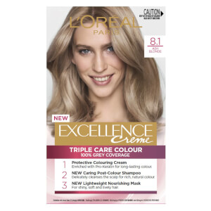 L'Oréal Paris Excellence Creme Permanent Hair Colour - Ash Blonde 8.1