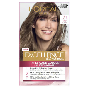 L'Oréal Paris Excellence Creme Permanent Hair Colour - Dark Ash Blonde 7.1