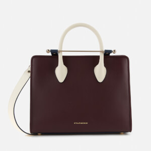 Strathberry Women's Midi Tote Bag - Burgundy/Navy/Vanilla