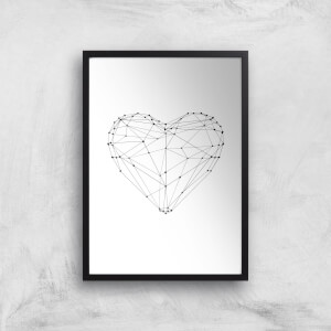The Motivated Type Love Heart Polygon Giclee Art Print