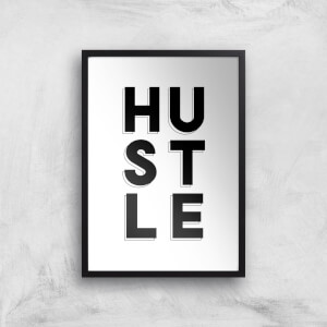 The Motivated Type Hustle 3D Giclee Art Print