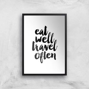 The Motivated Type Eat Well Travel Often Handwritten Giclee Art Print