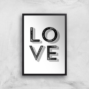 The Motivated Type LOVE Letterpress Giclee Art Print