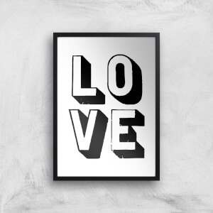The Motivated Type Love 3D Giclee Art Print