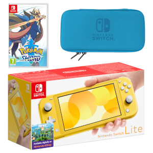 Nintendo Switch Lite (Yellow) Pokémon Sword Pack