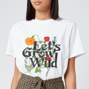 Ganni Women's Wild Flowers T-Shirt - White
