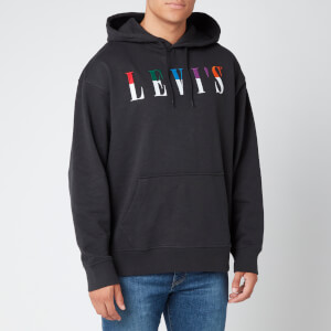 Levi's Men's Relaxed Graphic Hoodie - Jet Black