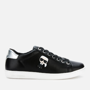 Karl Lagerfeld Women's Kupsole II Karl Ikonic Leather Cupsole Trainers - Black