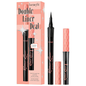benefit Double Liner Deal Roller Liner Liquid Eyeliner Duo Set Black (Worth £31.50)