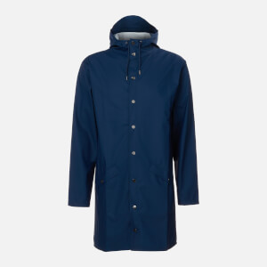 RAINS Long Jacket - True Blue