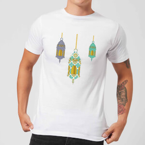 Eid Mubarak Lamps Men's T-Shirt - White