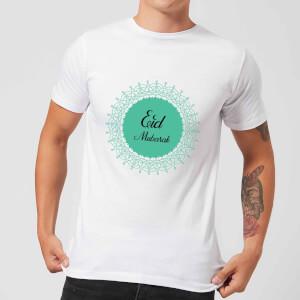 Eid Mubarak Earth Tone Wreath Men's T-Shirt - White