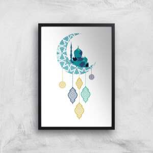 Eid Mubarak Moon Charm Giclee Art Print