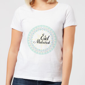 Eid Mubarak Light Tone Mandala Women's T-Shirt - White