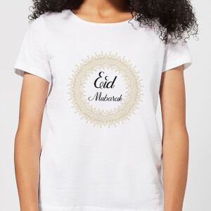 Eid Mubarak Golden Mandala Women's T-Shirt - White