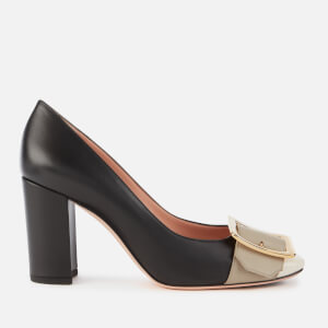 Bally Women's Jackie 85 Leather Block Heel Pumps - Black