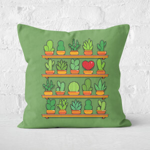 Love Yourself Cactus Heart Square Cushion