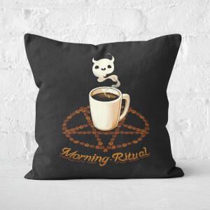 Morning Ritual Square Cushion
