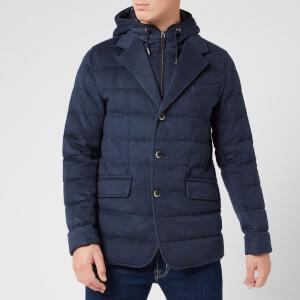 Herno Men's Quilted Blazer Jacket - Navy