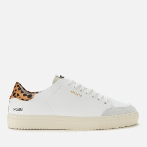 Axel Arigato Women's Clean 90 Triple Animal Leather Cupsole Trainers - White/Leopard/Cremino