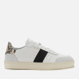 Axel Arigato Women's Dunk 2.0 Leather Trainers - White/Snake/Black