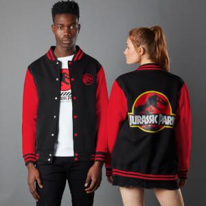 Jurassic Park Priimal Limited Variant Ranger Logo Unisex Varsity Jacket - Black/Red