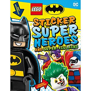 DK Books LEGO Batman Sticker Super Heroes and Super-Villains Paperback