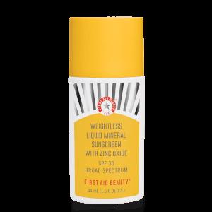 First Aid Beauty Weightless Liquid Mineral Sunscreen SPF30 Broad Spectrum
