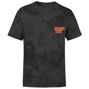 Jurassic Park Jurassic Park Bolt Embroidered Logo Unisex T-Shirt - Black Acid Wash