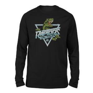 Jurassic Park Raptors On Tour Stroke Unisex Long Sleeved T-Shirt - Black
