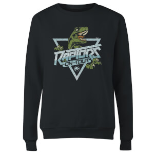 Jurassic Park Raptors On Tour Stroke Women's Sweatshirt - Black