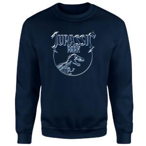 Jurassic Park Logo Metal Sweatshirt - Navy