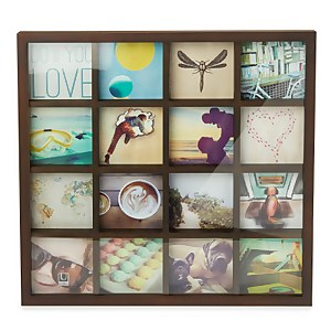 Umbra Gridart Wooden Photo Frame - Walnut