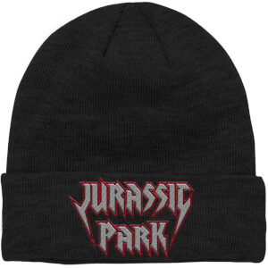 Jurassic Park Rock Theme Embroidered Logo Beanie