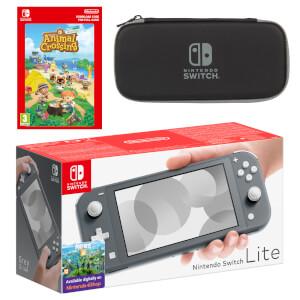 Nintendo Switch Lite (Grey) Animal Crossing: New Horizons - Digital Download Pack