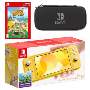 Nintendo Switch Lite (Yellow) Animal Crossing: New Horizons - Digital Download Pack
