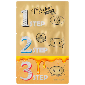 Holika Holika Pig Nose Clear Blackhead 3-Step Kit (Honey Gold)
