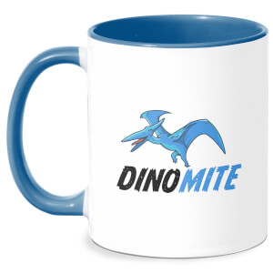 Dino Mite Mug - White/Blue