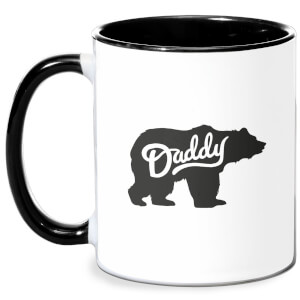 Daddy Bear Mug - White/Black