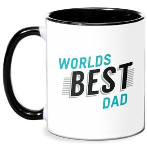 Worlds Best Dad Mug - White/Black