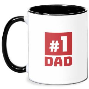 Number 1 Dad Mug - White/Black