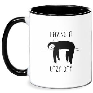 Having A Lazy Day Mug - White/Black