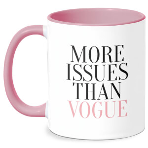 More Issues Than Vogue Mug - White/Pink